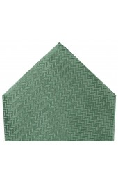 Soprano Duck Egg Green Herringbone Silk Hanky