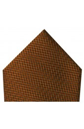 Soprano Copper Herringbone Silk Hanky