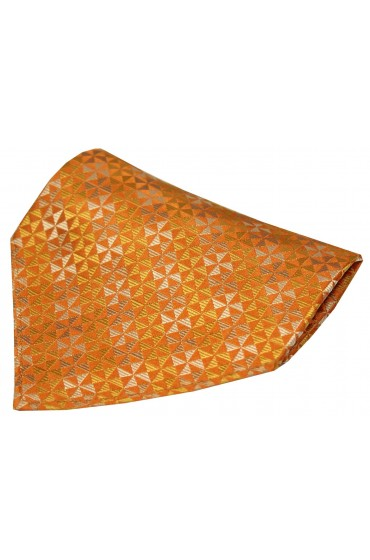 Burnt Orange Windmill Design Silk Hanky