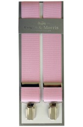 Erwin & Morris Made In UK Pink 35mm 4 Clip Braces