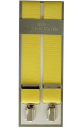Erwin & Morris Made In UK Yellow 35mm 4 Clip Braces