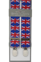 Erwin & Morris Made In UK Union Jack 35mm 4 Clip Braces