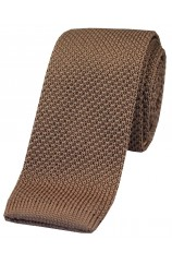 Soprano Camel Knitted Polyester Tie