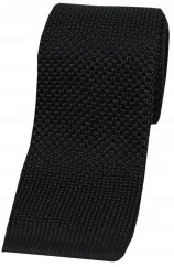 Soprano Black Knitted Polyester Tie