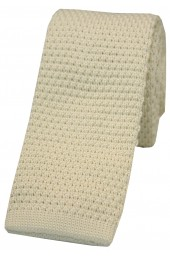 Soprano Ivory Knitted Polyester Tie