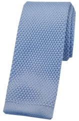 Soprano Sky Blue Knitted Polyester Tie