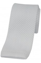 Soprano White Knitted Polyester Tie