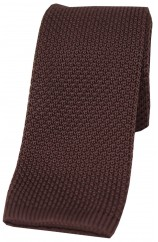 Soprano Brown Knitted Polyester Tie