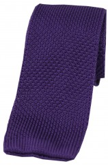 Soprano Purple Knitted Polyester Tie
