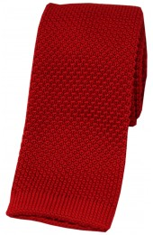 Soprano Red Knitted Polyester Tie