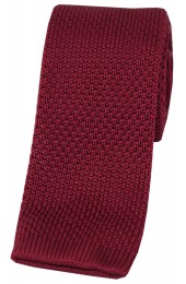Soprano Burgundy Knitted Polyester Tie