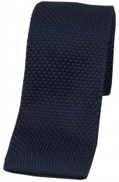 Soprano Navy Knitted Polyester Tie