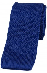 Soprano Polyester Royal Blue Knitted Tie