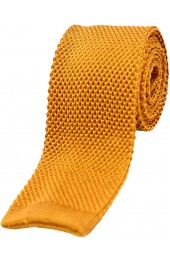 Soprano Burnt Orange Plain Knitted Silk Tie