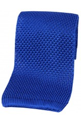 Soprano Royal Blue Plain Knitted Silk Tie