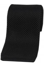 Soprano Black Knitted Silk Tie