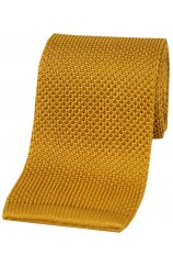 Soprano Gold Knitted Silk Tie