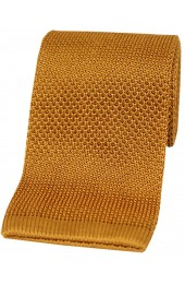 Soprano Burnt Orange Knitted Silk Tie