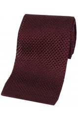 Soprano Wine Knitted Silk Tie
