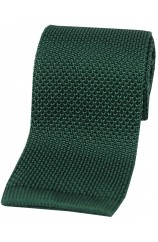 Soprano Racing Green Knitted Silk Tie