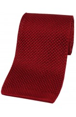 Soprano Red Knitted Silk Tie