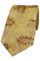 Soprano Limited Edition Gold Pineapple Silk Tie