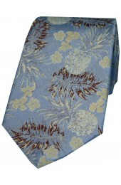 Soprano Limited Edition Sky Blue Pineapple Pattern Silk Tie