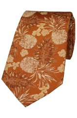 Soprano Limited Edition Burnt Orange Pineapple Silk Tie