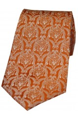 Soprano Limited Edition Burnt Orange Edwardian Wallpaper Tie
