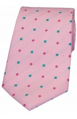 Soprano Pink With Small flowers Woven silk Tie