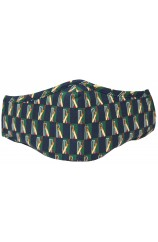 Green & Navy Cricket Themed Washable And Reusable Cotton Face Mask
