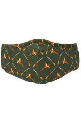 Green Pheasants &  Washable & Reusable Cotton Face Mask