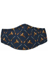 Navy Pheasants Washable And Reusable 100% Cotton Face Mask