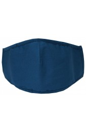 Plain Blue 100% Cotton Washable And Reusable Face Mask