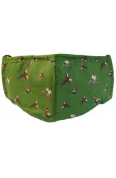 Green Flying Pheasants 100% Cotton Washable And Reusable Face Mask