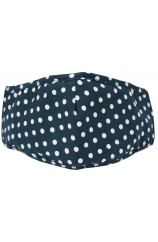 Navy Polka Dot 100% Cotton Washable And Reusable Face Mask