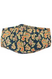 Navy Paisley 100% Cotton Washable And Reusable Face Mask