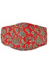 Red Paisley 100% Cotton Washable And Reusable Face Mask