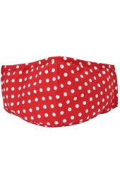 Red Polka Dot 100% Cotton Washable And Reusable Face Mask