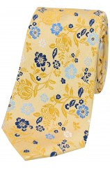 Bright Gold Flower Design Posh and Dandy Tie