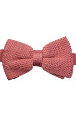 Soprano Dusky Pink Knitted Polyester Bow Tie