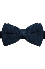 Soprano Pre-tied Plain Navy Knitted Polyester Bow Tie