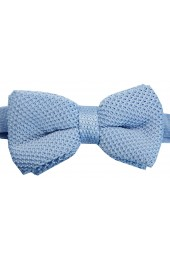 Soprano Sky Blue Knitted Polyester Bow Tie