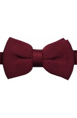 Soprano Pre-tied Plain Wine Knitted Polyester Bow Tie