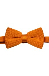 Soprano Pre-tied Plain Burnt Orange Knitted Polyester Bow Tie