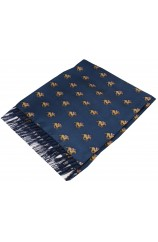 Soprano Blue Horse Racing Theme Silk Aviator Scarf