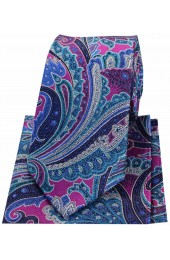 Posh & Dandy Large Edwardian Multi Coloured Paisley Silk Tie And Hanky Set
