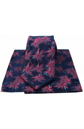 Soprano Navy & Fuchsia Palm Tree's Silk Tie And Hanky