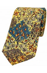 Yellow trees and  Leaves Luxury Silk Tie