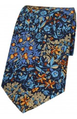 Multi Coloured Luxury Printed Silk Tie